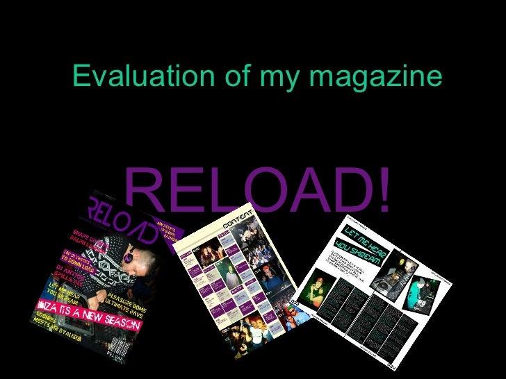 Evaluation of my magazine RELOAD!