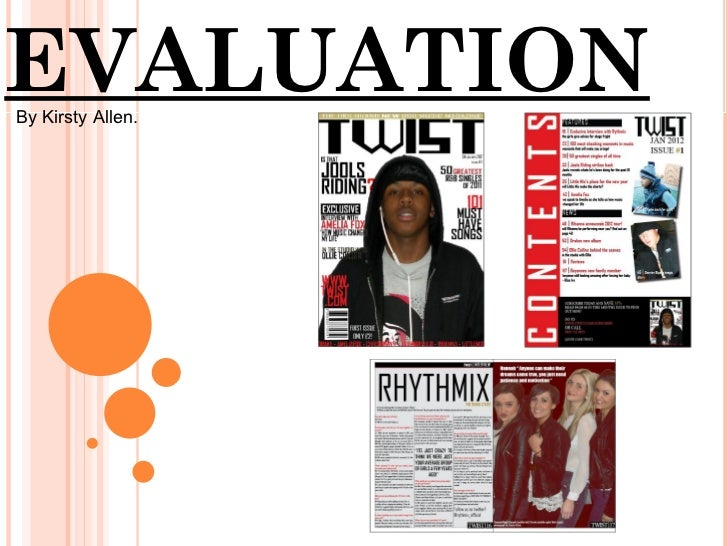 EVALUATIONBy Kirsty Allen.