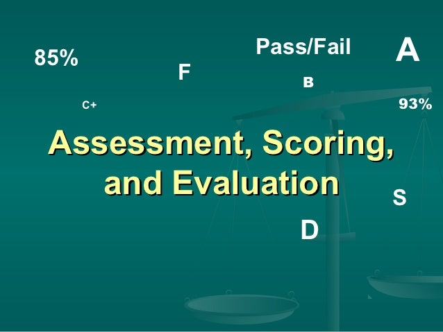85%            Pass/Fail   A           F       B      C+                   93%Assessment, Scoring,   and Evaluation   S   ...