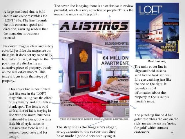 Real Estate Magazine Evaluation