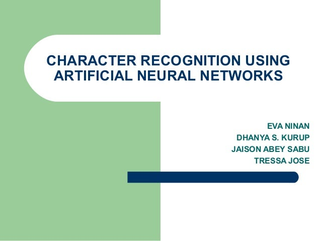Phd thesis artificial neural networks