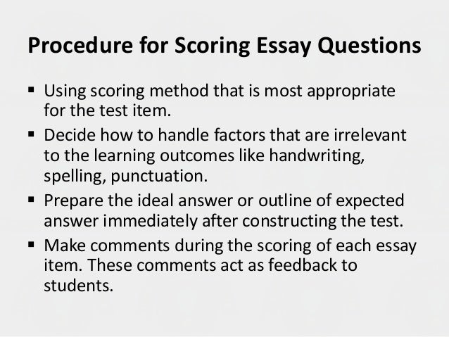 essay on the testing process