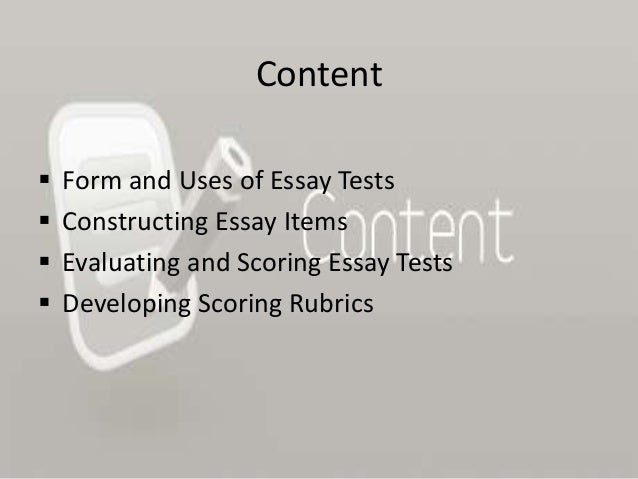Constructing an essay test