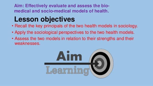 weaknesses of the socio medical model of health
