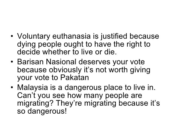 euthanasia in malaysia This is because a big majority of malaysians (about 55%) is made up of muslims  to them, active euthanasia is islamically forbidden since killing is a major sin.