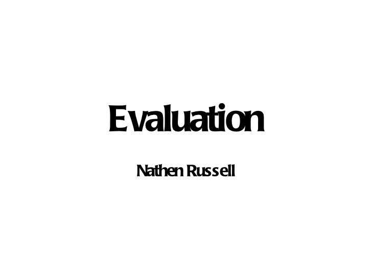 Evaluation Nathen Russell