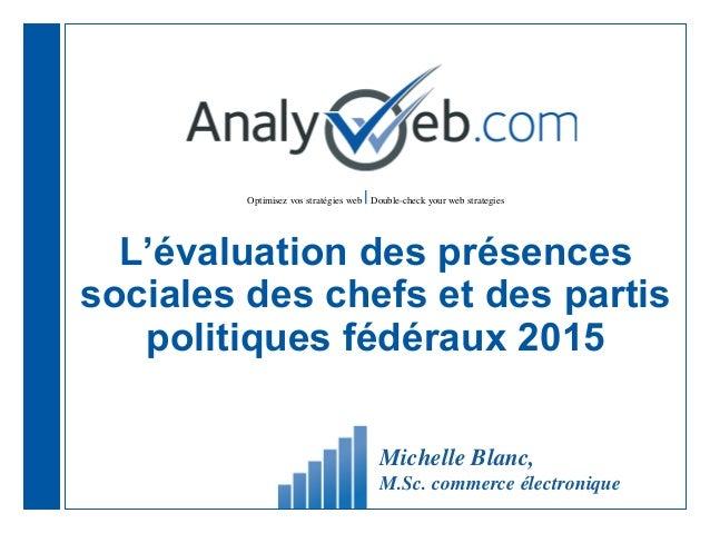 Optimisez vos stratégies web |Double-check your web strategies L'évaluation des présences sociales des chefs et des partis...