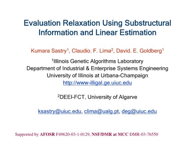 Evaluation Relaxation Using Substructural Information and Linear Estimation