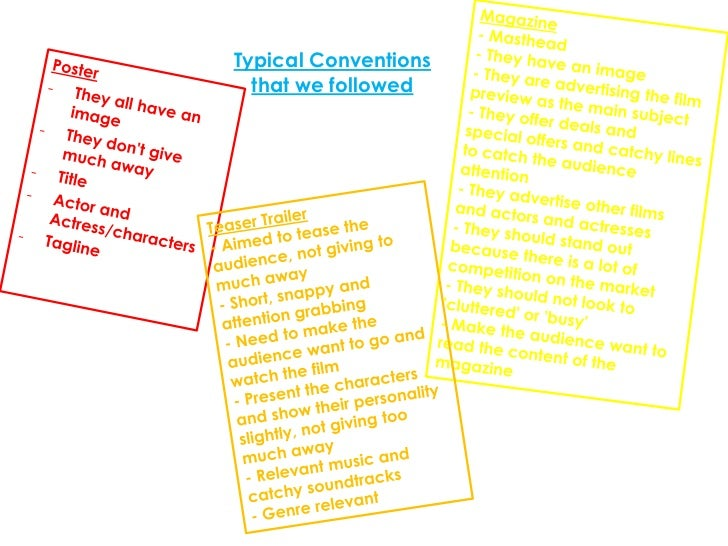 Typical Conventions  that we followed