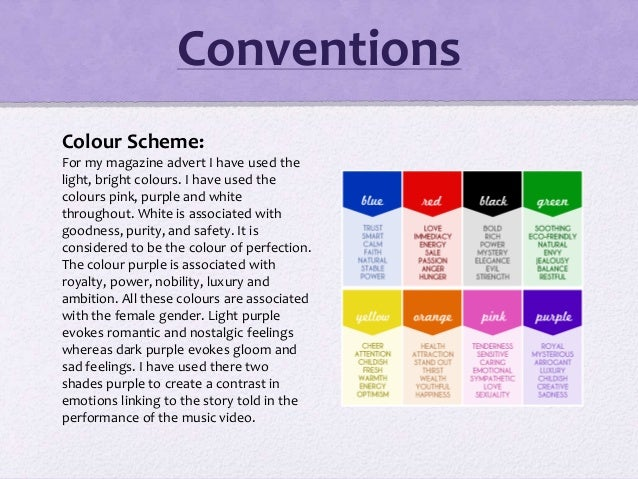 Colour Scheme: For my magazine advert I have used the light, bright colours. I have used the colours pink, purple and whit...