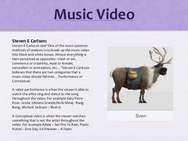 Music Video Steven E Carlson: Steven E Carlsson said 'One of the most common methods of analysis is to break up the music ...