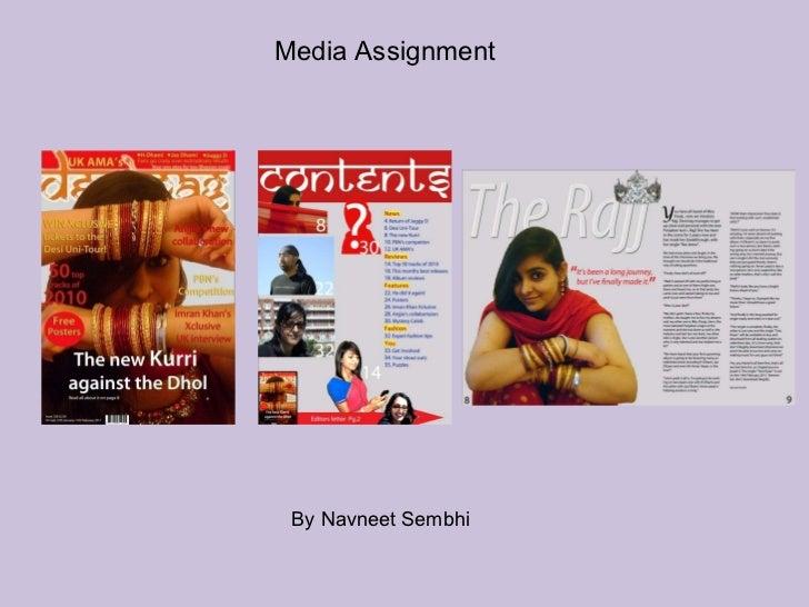 Media Assignment  By Navneet Sembhi