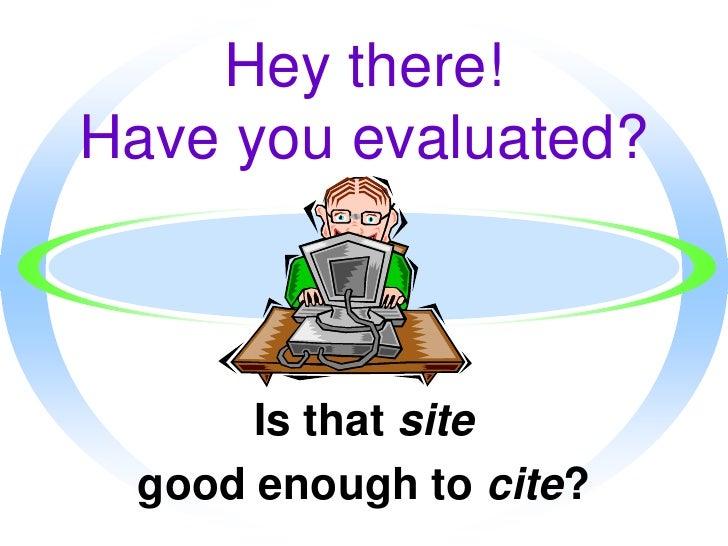 Website Evaluation Presentation