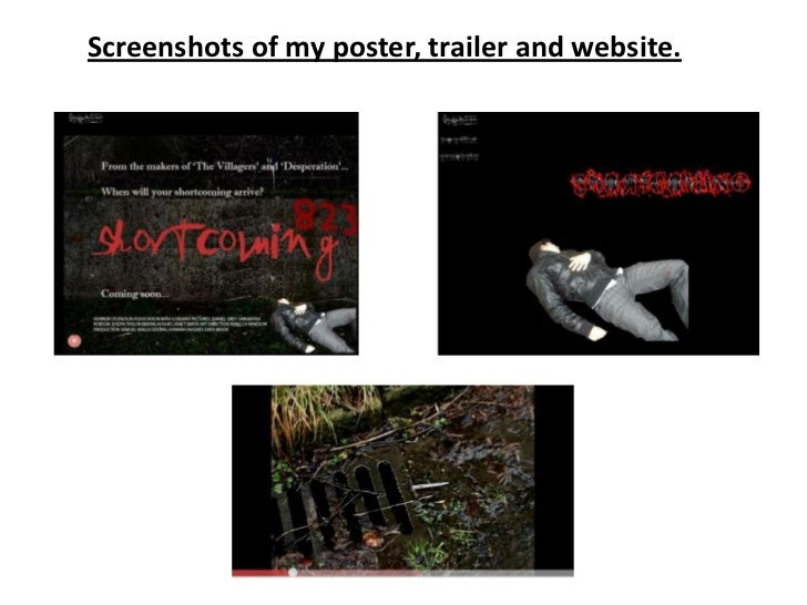 Screenshots of my poster, trailer and website.<br />
