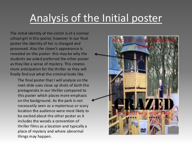 Analysis of the Initial poster The initial identity of the victim is of a normal school girl in this poster, however in ou...