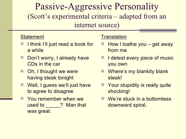 How to overcome passive aggressive behaviour