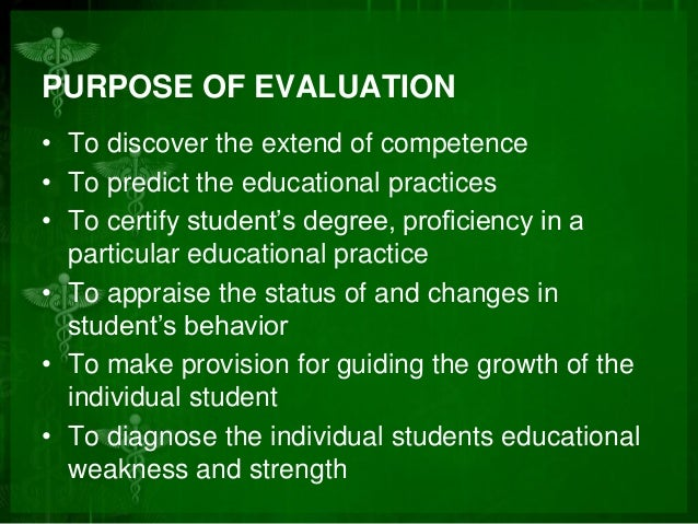 concept of evaluation in education pdf