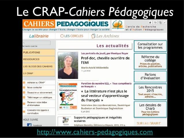 Chronique éducation Depuis mai 2003...