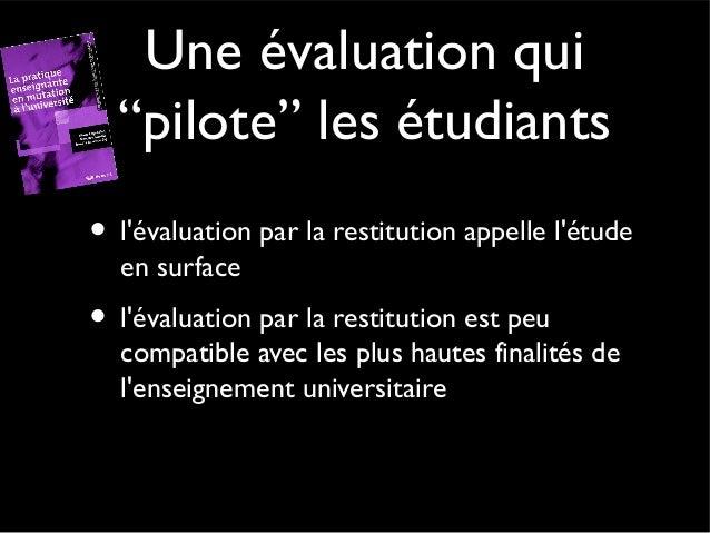 L'évaluation formative l'évaluation formative intervient dans le cours d'un apprentissage et permet de situer la progressi...