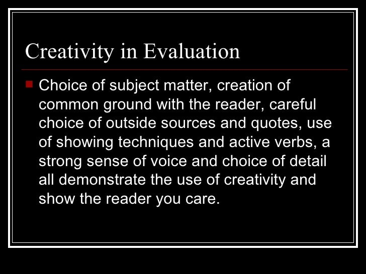 self evaluation on powerpoint essay