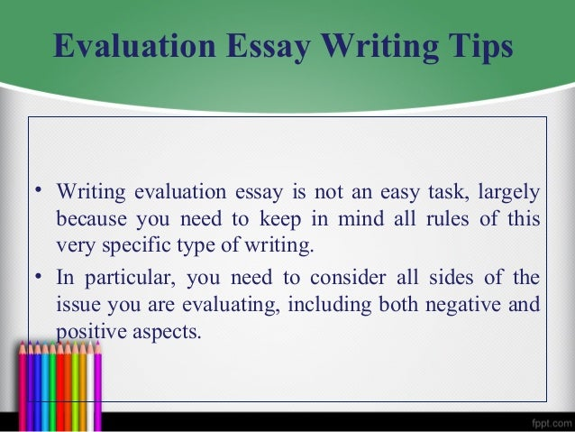 Evaluation film essay
