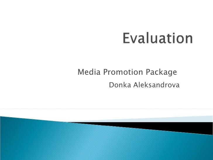 Media Promotion Package  Donka Aleksandrova