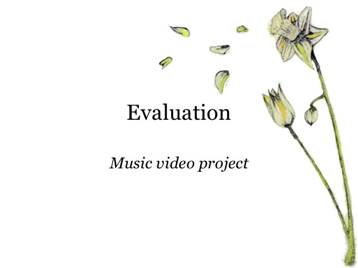 Evaluation Music video project