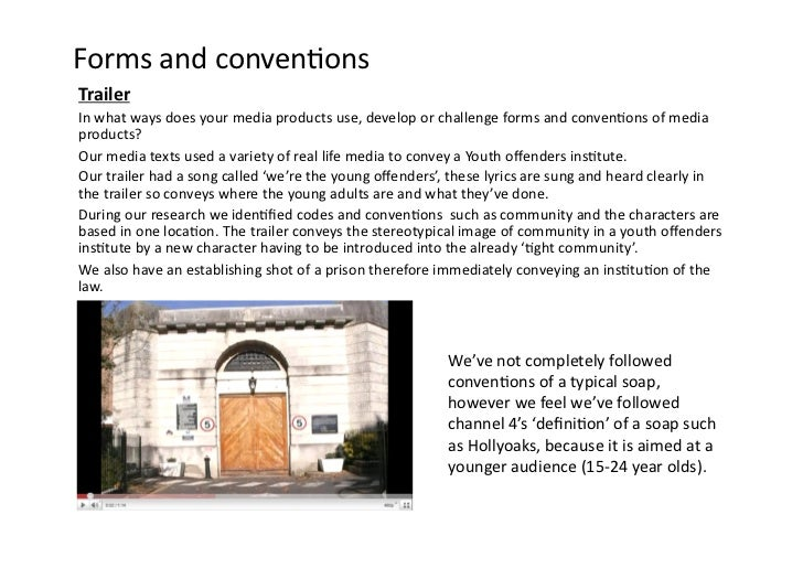 Forms and conven-ons Trailer In what ways does your media products use, develop or challenge ...