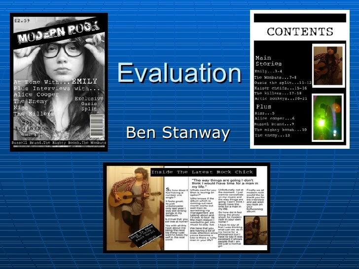 Evaluation  Ben Stanway