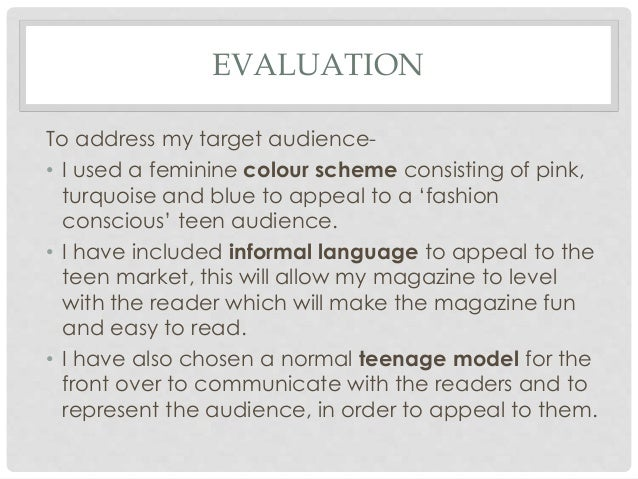 how to write a fashion evaluation