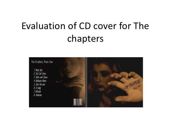 Evaluation of CD cover for The           chapters