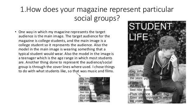 Evaluation of college magazine Slide 2