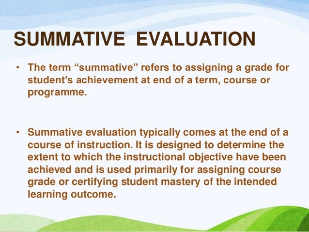 Evaluation Of Educational Programs In Nursing