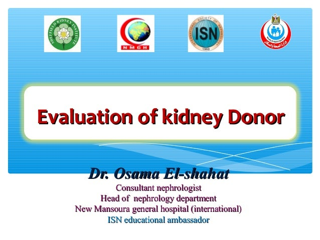 Evaluation of kidney donor