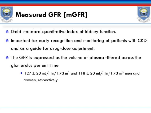 Mdrd study equation to estimate gfr