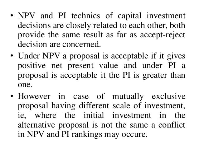 net present value and project Net present value this article may be adjusted present value, is the net present value of a project if financed solely by ownership equity plus the present value.
