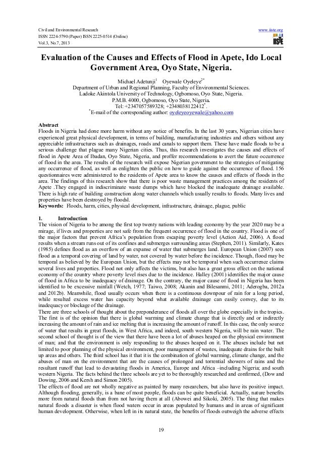 Civil and Environmental Research www.iiste.org ISSN 2224-5790 (Paper) ISSN 2225-0514 (Online) Vol.3, No.7, 2013 19 Evaluat...
