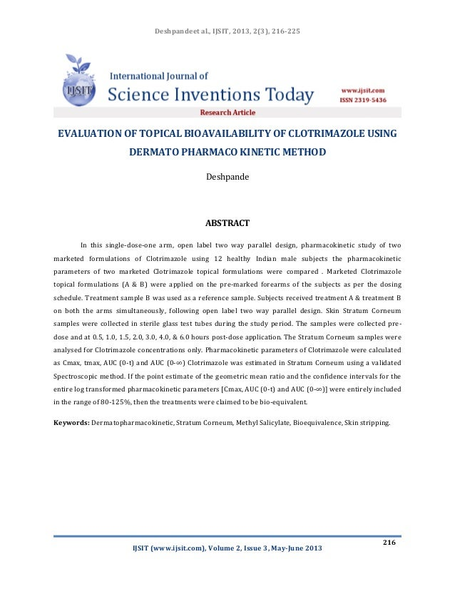 Deshpandeet al., IJSIT, 2013, 2(3), 216-225 IJSIT (www.ijsit.com), Volume 2, Issue 3, May-June 2013 216 EVALUATION OF TOPI...