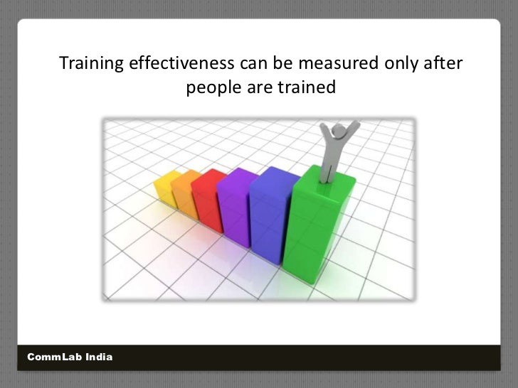 Training effectiveness can be measured only after people are trained<br />CommLab India<br />