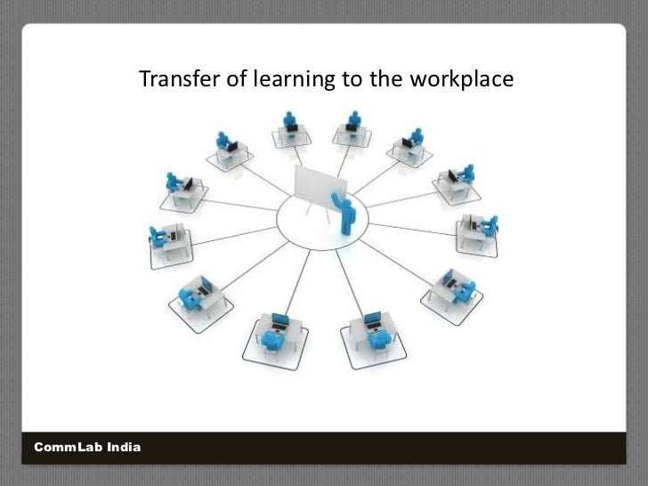 Transfer of learning to the workplace<br />CommLab India<br />