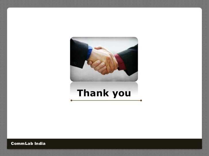 CommLab India<br />Thank you<br />