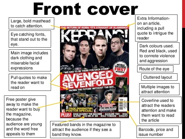 Annotated conventions of rock music magazines
