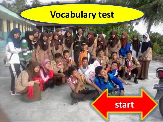 Vocabulary test start