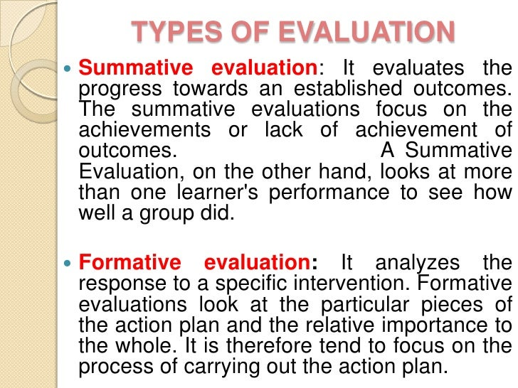 Evaluation ppt