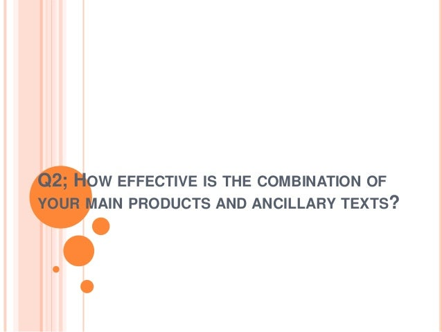 Q2; HOW EFFECTIVE IS THE COMBINATION OF YOUR MAIN PRODUCTS AND ANCILLARY TEXTS?