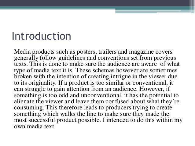 media evaluation coursework