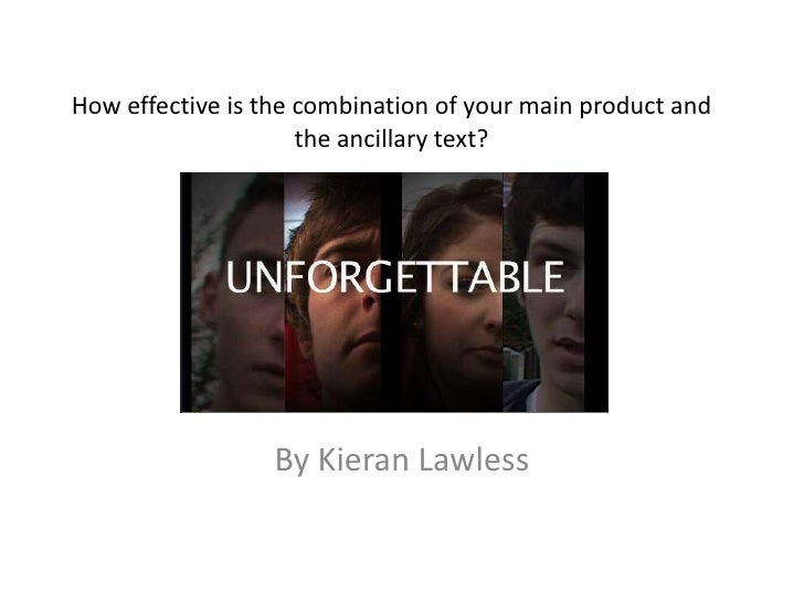 How effective is the combination of your main product and                     the ancillary text?                  By Kier...