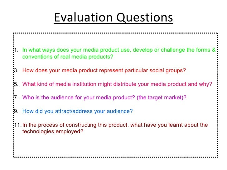 Evaluation Questions <ul><li>In what ways does your media product use, develop or challenge the forms & conventions of rea...