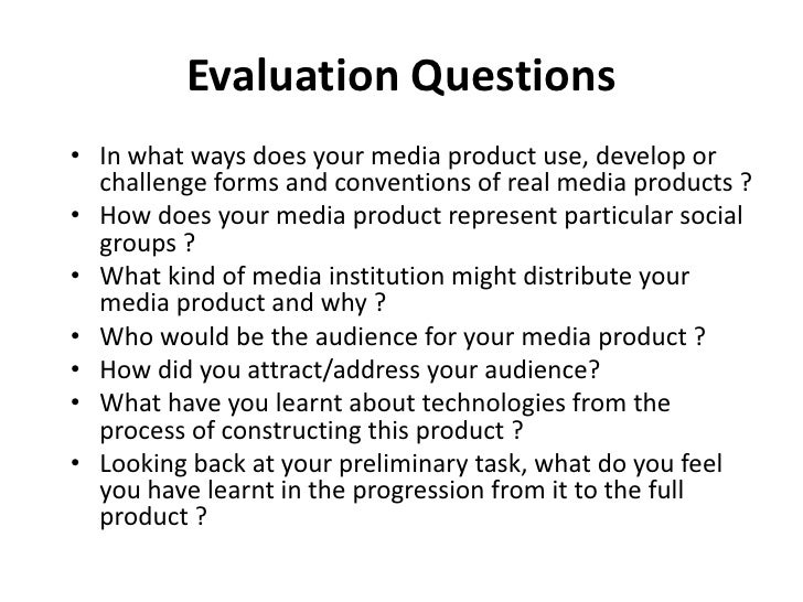 Evaluation questions how to present them on your blog - mon 29 marc…