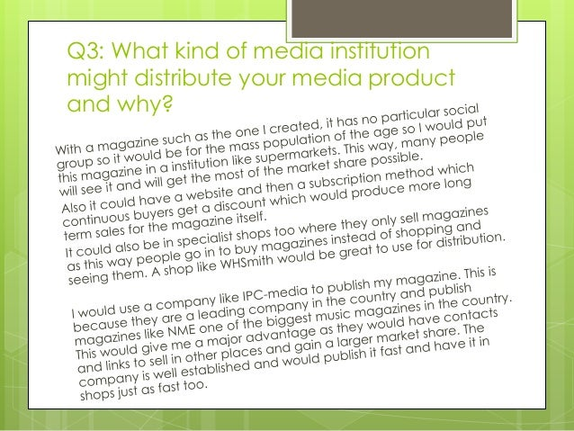 as media coursework evaluation magazine Media coursework evaluation  question 1 - in what ways does your media product use, develop or challenge forms and conventions of real media products.